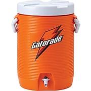 Gatorade® 19 in (L) x 15 in (W) x 13 in (H) Orange Beverage Cooler with Cup Dispenser, 5 gal