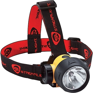 Trident® 3 AAA Alkaline Yellow Thermoplastic Head Lamp, 3 V, 300 mA Xenon Bi-Pin, LEDs