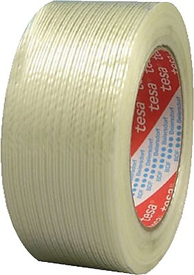 Tesa® 60 yd (L) Clear Glass Fiber Polypropylene Strapping Tape, 4.40 mil (T), 2 in (W)
