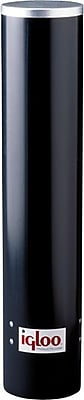 Igloo® 3 -3/4 in x 4 in Black Plastic Tube Cup Dispenser, 7 oz, for 3 - 15 gal Coolers