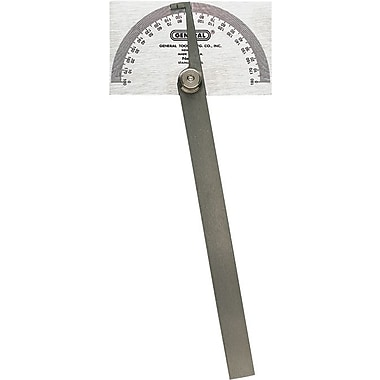 General® SS 0 - 180 deg Protractor, Square Head