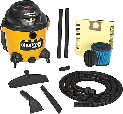Right Stuff® 120 V 60 Hz 12 A 6.5 hp Industrial Wet/Dry Vacuum Cleaner, 18 gal Capacity, 195 cfm