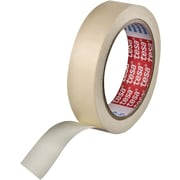 Tesa® 60 yd (L) X 5.2 mil (T) Paper Backing Rubber Adhesive Cream Masking Tape, 2 in (W)