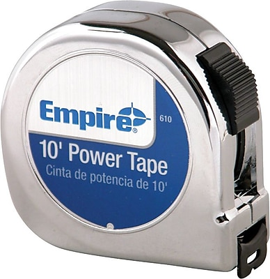 Empire® Nylon Coated CS Single Side Measuring Tape, 25 ft (L) x 1 in (W) Blade
