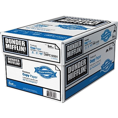 Dunder Mifflin Premium Copy Paper, 8 1/2in. 11in., Case
