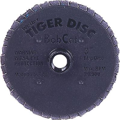 BobCat™ 27 Mini Flat Style ZrO2 Flap Disc, 3 in (OD), 60 (Medium)