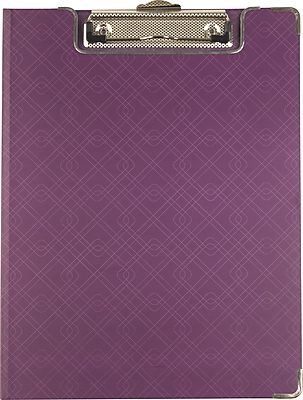 Sustainable Earth™by Staples® Clipfolio, Purple, Letter Size