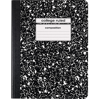 Staples® Composition Notebook, College Ruled, Black, 9-3/4