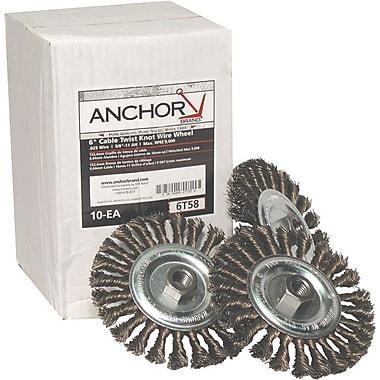 Anchor Brand® CS Full Twist Wheel Brush, 6 in (Dia), 0.023 in Wire, 5/8-11 Arbor