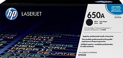 HP 650A Black Toner Cartridge (CE270A)