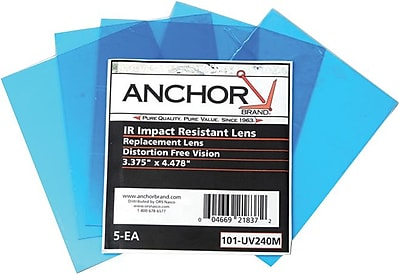 Anchor Brand® Clear 100% Polycarbonate Cover Lens, 4 1/4 in, 10 1/2 in (W), 2 1/2 in, 12 7/8 in (L)