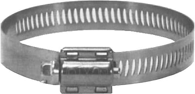 Dixon™ 300 Stainless Steel HSS Worm Gear Drive Hose Clamp, 9/16 - 1 1/16 in