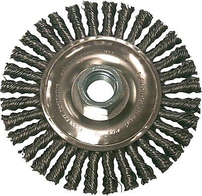 Anchor Brand® CS Stringer Bead Wheel Brush, 7 in (Dia), 0.02 in Wire, 5/8-11 Arbor