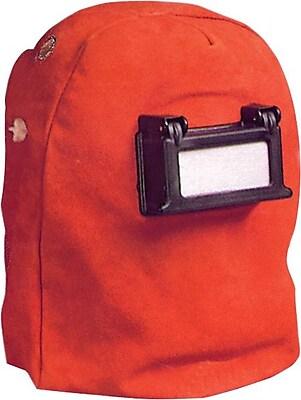 Anchor Brand® Russet Split Cowhide Leather Helmet, 2 in (W) x 4 1/4 in (L) Window