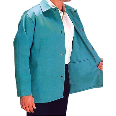 Anchor Brand® Snaps Closure Visual Green Cotton Sateen Jacket, 30 in (L), 4X-Large