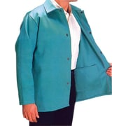 Anchor Brand® Snaps Closure Visual Green Cotton Sateen Jacket, 30 in (L), Large