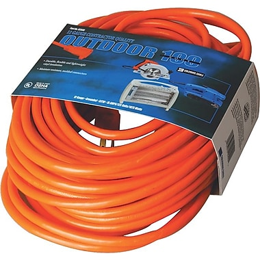 CCI® PVC Jacket SJTW Outdoor Extension Cord, 16/3 AWG, 50 ft (L)