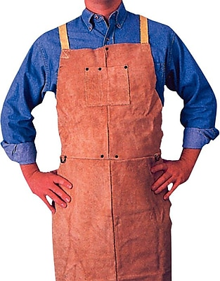Anchor Brand® Standard Bib Apron With Self-Balanced Cross Back Strap, Heat Abrasion, Golden Brown, 24