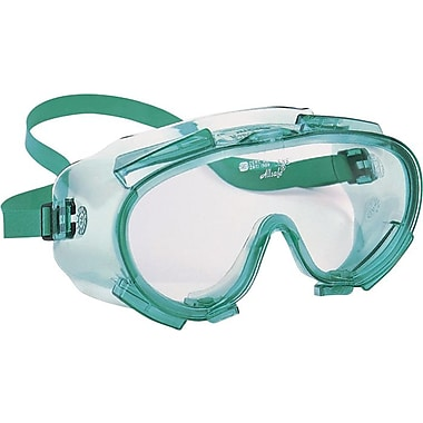 V80 Monogoggle® Clear/Green Chemical Splash Safety Goggles