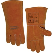 Anchor Brand® Split Cowhide Reinforced Palm And Thumb Quality Welding Gloves, Large, Bucktan