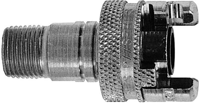 Dixon™ Trivalent Chrome Plated Steel Dual Lock Quick Acting Grease Coupler, 3/4 in MNPT, 300 psi