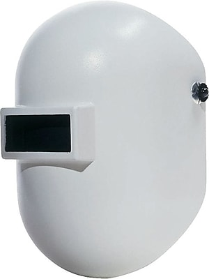 Fibre-Metal® Pipeliner™ Superglas® White Fiberglass Welding Helmet, 2 in (W) x 4 1/4 in (L) Window, #10 Lens