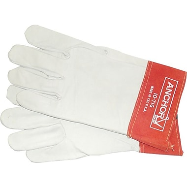 Anchor Brand® Capeskin Standard Gunn-Straight Thumb TIG Welding Gloves, Large, White