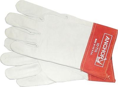 Anchor Brand® Economy Welding Gloves, Capeskin, Large, White, 1 Pair