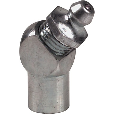 Chaps® Zinc Plating Metal Hydraulic 45 deg Short Grease Fitting, 57/64 in (OAL), 1/8 in PTF