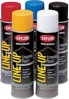 Industrial Line-Up® 20 oz Aerosol Can Pavement Stripping Spray Paint, Highway Yellow