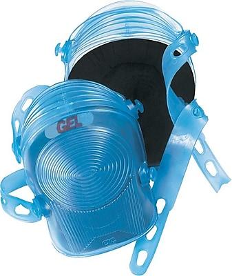 CLC® Ultra-Flex® Blue Foam Gel Pad Dual Synthetic Rubber Velcro Strap Flexible Professional Knee Pad