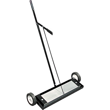 Magnet Source™ Push-Type Magnetic Floor Sweeper, 400 lb, 30 1/4 in (W) Overall, 6 in Wheel (Dia)