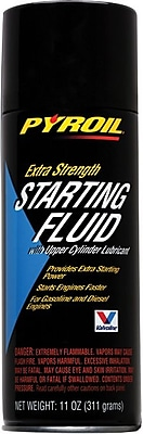 Pyroil® Clear Liquid Extra Strength Starting Fluid, 11 oz Aerosol Can