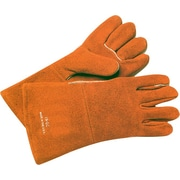 Anchor Brand® Split Cowhide Standard Gunn-Wing Thumb Welding Gloves, Large, Russet