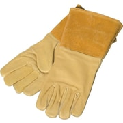 Anchor Brand® Top Grain Pigskin Wing Thumb Specialty Welding Gloves, Large, Gold
