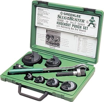 Slug-Buster® Manual Knockout Punch Kit, 0.89 - 1.7 in Hole