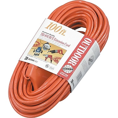 Tri-Source® PVC Jacket STW 3 Way Multi Outlet Power Block Extension Cord, 12/3 AWG, 2 Feet Long