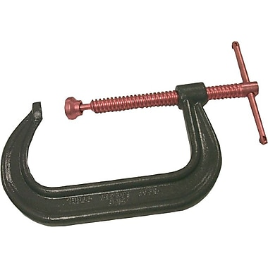 Anchor Brand® Lacquered Drop Forged Steel C-Clamp, 6 1/16 in Nominal Opening, 4 1/8 in Throat (D)