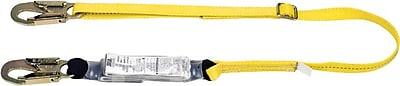 Workman® Yellow 1 Legs Shock-Absorbing Tie-Back Lanyard, 6 ft