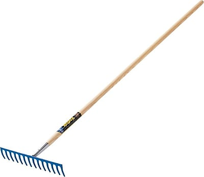 Kodiak® Forged Steel Tine Level Head Rake, 15 in (W) x 3 1/2 in (H) Blade, 67 1/4 in (L)