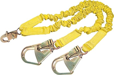 ShockWave2™ Yellow Polyester 2 Legs Shock-Absorbing Lanyard, 3600 lb, 6 ft 6 1/4 in (L)