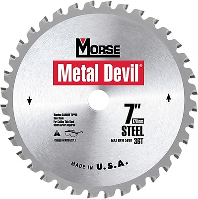 Metal Devil® Carbide Cutting Edge Circular Saw Blade, 7 1/4 in (Dia), 5/8 in KO Arbor