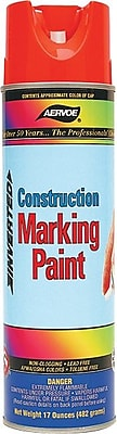 Aervoe® 20 oz Marking Paint, Alkyd, Fluorescent Orange