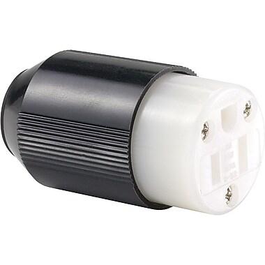 Auto-Grip™ Black/White Nylon Body Connector, 1/4 - 0.656 in Conductor, 125 VAC, 15 A