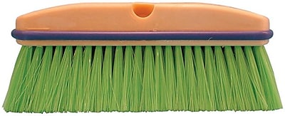 "Magnolia Brush 455-3033 10"" Nylon Bristle Vehicle Wash Brush, Flagged Green"