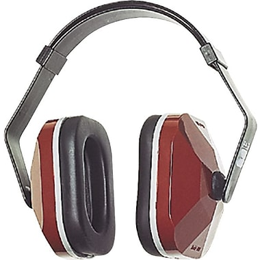 E-A-R® Plastic Headband Three Position Earmuff, Maroon, 26 dB
