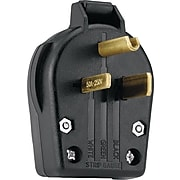 Cooper Wiring Devices Black Thermoplastic Body Male Cap Plug, 10 - 4 AWG Conductor, 250 V, 50 A