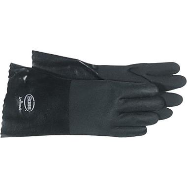 BOSS™ Black Jersey Lined PVC Full Coated Gloves, Large, Black, 14