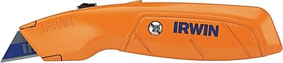 Irwin® Hi-Visibility Orange Standard Retractable Utility Knife With 3 Blades