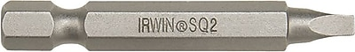 Irwin® Hex Drive Square Recess Power Bit, 2 in (OAL), #2 Philips Tip
